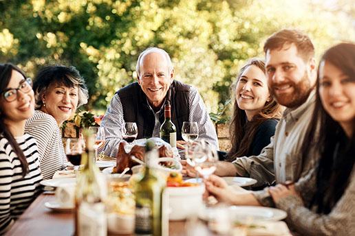 Familientreffen und Geburtstage in der Gruppenunterkunft
